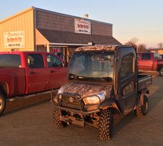 Kubota RTV X-Series spotted at the Blue River One Stop before a fun filled day of trout fishing!