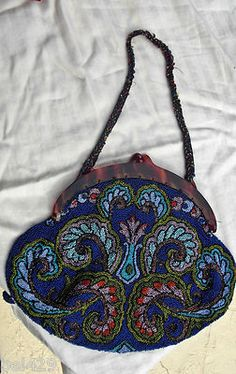 0c1ce93361 Vintage Beaded victorian purse hand bag