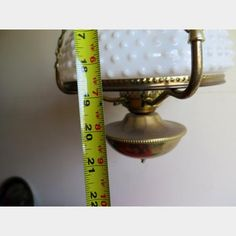 Hobnail Globe Converted Hanging Lamp | Kings Auction & Appraisal
