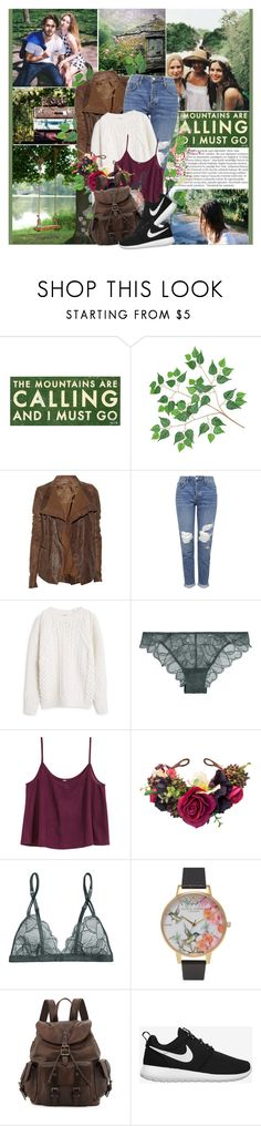 """""""You're the one I follow,  Follow all the way-o. Way into the darkness  Where the sun's shining yellow."""" by winfreda ❤ liked on Polyvore featuring Zephyr, Balmain, Go Jump in the Lake, Rick Owens, Topshop, MANGO, La Perla, H&M, Olivia Burton and Frye"""