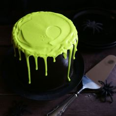 "This ooey gooey Slime Cake is as delicious as it is fun! I used some McCormick Pure Lime extract and McCormick Neon food color to create the coolest ""slime"" you have ever seen! (Don't worry, I will show you how easy it is to make… and how delicious it is to eat!) To make this cake..."