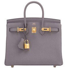 Hermes Etain Baby Birkin 25cm Togo Tin Grey Gold Hardware Summer 1