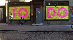 Interactive Post-It wall (can do this in reception area where the painted lady art is!). Shape of a heart?