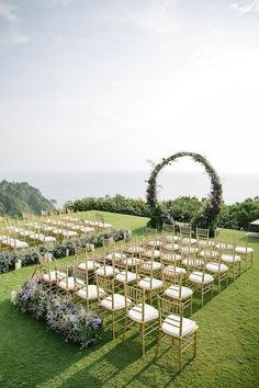 circular floral arch wedding ceremony thailand wedding arch Magical Thailand Wedding Overlooking the Andaman Sea ⋆ Ruffled Purple And Gold Wedding, Wedding Gold, Wedding Dj, Wedding Pins, Wedding Couples, Wedding Hair, Dream Wedding, Arch Wedding, Wedding Ideas