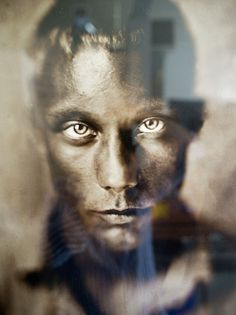 Portrait of a young Nordic man. Photographer: Quinn Jacobson, using wet plate collodion