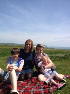 """Here is a picture of me and my three children, I have CP affecting my right side, diagnosed at two. I just wanted others who have children that may have just had a diagnosis to keep positive! I was """"written off"""" by doctors as a child and my parents were told I wouldn't be able to read or write! I have had a extremely fulfilling life, doing all sorts of very strenuous and physical jobs! I start University in September to start my new career in Social Work."""