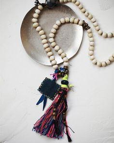 Misterio Mala Tassel Pendant Necklace.