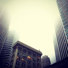 Financial District, San Francisco, CA. Taken by Karl the Fog. #architecture #photography It's usually a foggy morning at Locaid.