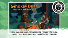 Smokey Bear Books: Campfire Kids Review. #storyapps #smokeybear