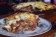 Moussaka végétarienne de Jamie Oliver (plat familial) Jamie Oliver, Lasagna, Baked Potato, Veggies, Potatoes, Vegetarian, Baking, Ethnic Recipes, British