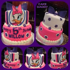 Daisy Duck birthday cake.