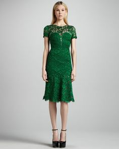 lacy pantone of the year? yes, please. Burberry Prorsum Cutout-Back Lace Dress - Bergdorf Goodman