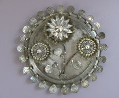 Recycled Metal Flowers  Mixed Media Assemblage by FancifulGlass, $275.00