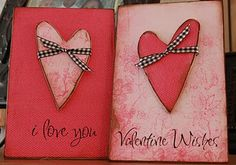Valentine decor.  You could easily make this with scrapbook paper. I may try this!