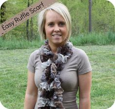 Easy ruffle scarf with sashay yarn by red heart boutique  From WholesomeMommy.com