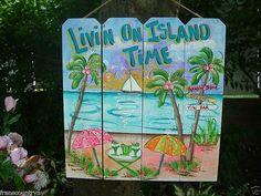 Tropical Whimsical Wall Art Patio Tiki Hut