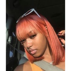 Weave Hairstyles With Bangs Sew In Short Colored Pink Hairstyle For Black Women 9 Baddie Hairstyles, Weave Hairstyles, Straight Hairstyles, Lob Hairstyle, Curly Hair Styles, Natural Hair Styles, Hair Laid, Gorgeous Hair, Pretty Hair