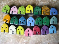 house beadskiln firedclay raku by Jubilee on Etsy, $126.00