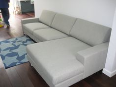 Nice wide chaise with this sofa set.  We generally recommend wide arms with wide seats (90 cm) and slimmer arms with the 70 cm seats, so you keep the combination in proportion.  Cutting down the arm width is always a good trick if space is a bit tight too.