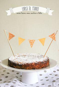 Mango Cake (senza farina, uova, zucchero e latte)