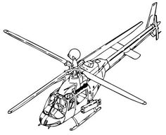 Helicopters With A Large Front Glass  Helicopters Coloring Pages