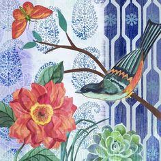 Bird anf butterfly Medium Mediums Of Art, Anime Art Fantasy, Beautiful Flowers Wallpapers, Decoupage Vintage, Watercolor Bird, Arte Floral, Art For Art Sake, Vintage Wall Art, Flower Wallpaper