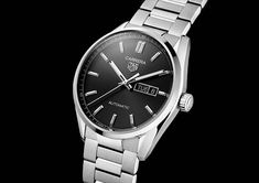 TAG Heuer - Carrera Three Hands, new 2021 collection | Time and Watches | The watch blog Tag Heuer Calibre 5, Watch Blog, Patek Philippe, Sport Watches, Stainless Steel Case, Carrera, Chronograph, Omega Watch, Tags