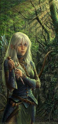 Aerin Thelas Représentation fidèle physiquement à ce que vous pouvez voir d'Aerin. Pour l'armure et l'arc, fiez vous à ce que vous pouvez voir in game. Il n'y a que peu de différences.