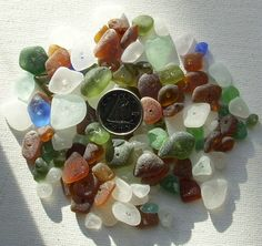 Sea Glass Craft Beads  MIx Color Authentic by KreationsfromKaos, $39.00
