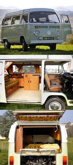 The Dude 1977 VW Combi with pop-top roof #vw #vwbulli #volkswagen #vwbus #camper #camping #campanda
