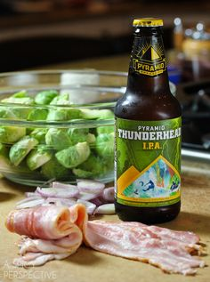 For St. Patrick's Day  Brussel Sprouts with Bacon and Beer!