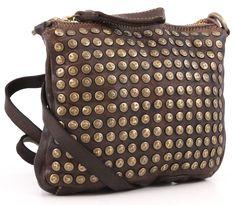 Campomaggi Lavata Shoulder Bag Leather dark-brown 21 cm - C1104TERVL-1701   Designer Brands :: wardow.com