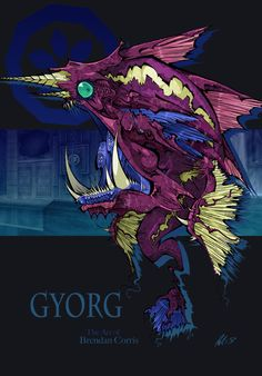 """Next up in my """"Hyrule's Most Heinous"""" series is Gyorg, the monster fish boss from Majora's Mask. Hyrule's Most Heinous - Gyorg Zelda Video Games, Monster Fishing, First Video Game, The Legend Of Zelda, Twilight Princess, Breath Of The Wild, The Villain, Game Art, Illustrations Posters"""