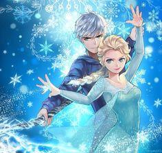 """❤ Un Couple presque Parfait ❤️ """"lØl"""" ~ ❄ JElsa ❄ = ♡ J'ack + E'lsa ♡ ~ CrossOver Films d'Animations : Jack Frost {Les 5 Légendes} ⭐ Elsa d'Arendelle {La Reine des Neiges} ~ [❤_Disney_❤]"""