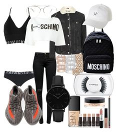 """""""Halla"""" by madisonkiss on Polyvore featuring Calvin Klein Underwear, J Brand, adidas, Topshop, Moschino, HUF, MAC Cosmetics, Anne Sisteron, NARS Cosmetics and CLUSE"""