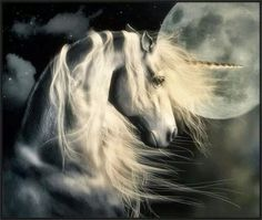 This is a stunning image of a beautiful Unicorn. Unicorn And Fairies, Unicorn Fantasy, Real Unicorn, Unicorns And Mermaids, Unicorn Horse, Unicorn Art, Fantasy Art, Fantasy Fiction, Mythical Creatures Art