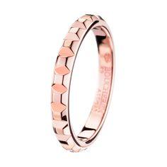Pointe de Diamant Pink Gold  Wedding Band