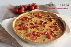 torta salata tonno e pomodorini Pizza Bella, Good Food, Yummy Food, Buffet, Antipasto, Summer Recipes, Bbq, Food And Drink, Favorite Recipes