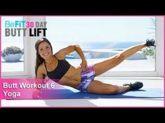 Butt Workout 6: Yoga | 30 Day Butt Lift is a unique target-toning workout that is designed to tighten and tone the lower-body, specifically focusing on the butt through a series of Yoga-inspired exercises combined with multiple variations of squats and leg ...