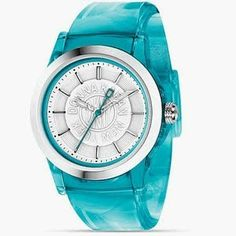 gorgeous watch <<<=== this is by far one of the prettiest watches I have EVER seen! Trendy Watches, Cool Watches, Women's Watches, Bracelet Watch, Blue Green, Nordstrom, Turquoise, Crystals, Sea Glass