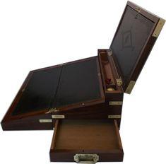 Exceptional Regency Mahogany Triple Opening Writing Box