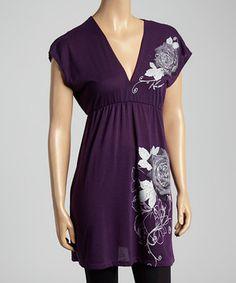 Another great find on #zulily! Purple Swirl Empire-Waist Tunic by Miss Sportswear #zulilyfinds