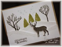 Hello stampin' friends! I made this card for the Catered Crop Challenge and the Free for All Flourishes...check it out on my blog!
