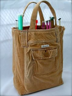 Bag made from pants.