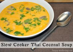 Slow Cooker Thai Coconut Soup