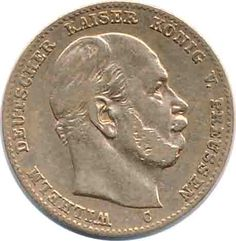 Europe - Germany - German Empire - Gold coin Prussia J. 245, 10 Mark 1876 C, Wilhelm I., very fine