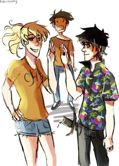 "This is when Nico admits that he had a crush on Percy and Annabeth is all ""Yea dude!"" and Percy is just ""Whaaaaaaat?"""