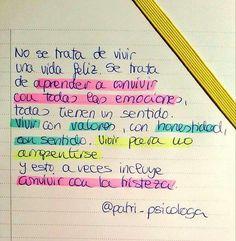 Hay que darse permiso para sentir todas las emociones. www.YolandaCambra.com