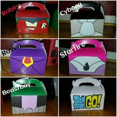 Tren Titans Go party favor boxes handmade by me. Happy Birthday To Ya, 8th Birthday, Bday Girl, Teen Titans Go, Favor Boxes, Party Time, Party Favors, Balloons, Party Ideas