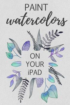 How to Paint Watercolor Leaves on Your iPad in Procreate + FREE Digital Watercolor Brushes Watercolor Leaves, Watercolor Brushes, Watercolor Texture, Watercolor Lettering, Watercolor Tutorials, Watercolors, Affinity Designer, Ipad Art, Learn To Paint